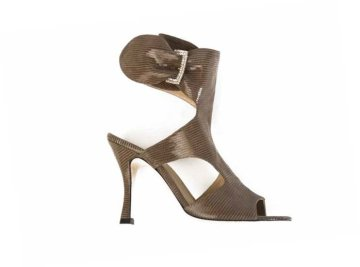 tobia longarini S400 STEFANY, handcrafted footwear, Light Brown, Swarovski