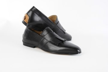 tobia longarini Footwear crafted black leather Arthur Dakota