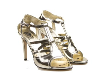 tobia longarini I500 ISIDE handcrafted footwear , Gold Mirror